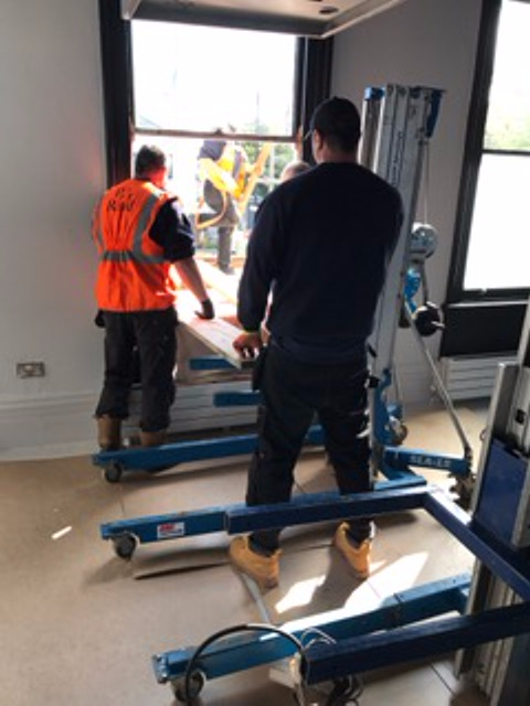 Crane installation induction suite