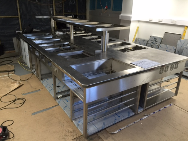 Induction cooking suite assembled end day 1