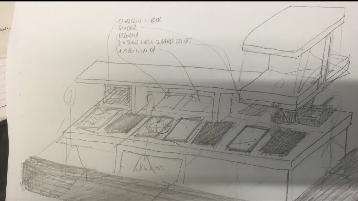 Matt Tompkinsons cooking suite design for The Montagu Arms