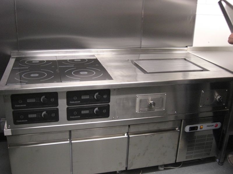 Pancha And Induction Mounted On A Low Level Refrigerator 800x600